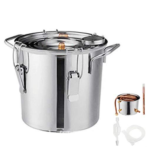 Kit De Fabricación Casera De Tubo De Cobre Caldera De Aceite De Acero Inoxidable Para Bricolaje,3 gallonen