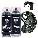 FULL DIP PACK 2 SPRAY Full Dip REGALO Adaptador Spray - TiendaFullDip.com (VERDE MILITAR)