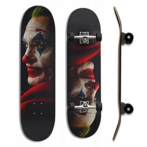 Pegatinas Autoadhesivas para monopatín The Joker Joaquin Phoenix Dark 4k z9 a Prueba de Suciedad y fáciles de Limpiar 24,8 'x 6,8' x 2 Piezas Regalo navideño