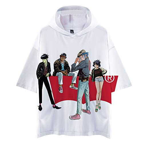 Gorillaz T-Shirt T-Shirt T-Shirt Tops Unterhemd Hemd Trendy Mann und Frauen beiläufige Art und Weise Wild Style Sport Unisex (Color : A03, Size : M)