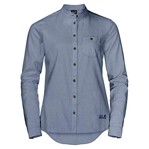 Jack Wolfskin Damen NAKA River Shirt W Bluse, lapiz Blue, L