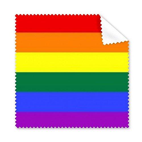 Arco iris Gay lésbico LGBT transgénero bisexuals apoyo bandera ilustración gafas paño de limpieza paño móvil limpiador de pantalla, 5unidades