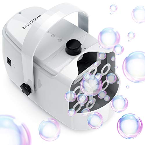 semai Automatic Bubble Machine for Kids, Portable Professional Bubble Machine for Parties, Bubble Blower Battery Operated Plug-in Bubble Maker Machine with 2 Speed Levels for Outdoor/Indoor