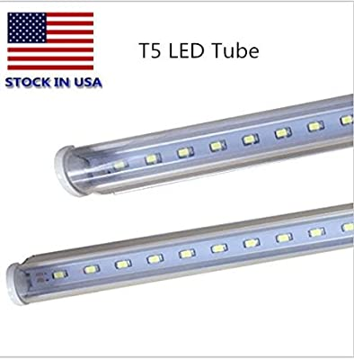 T5LED integrated single 24 inches 9W LED6000K 3000k Color temperature 2500 lumens 50,000 hours LED lamp transparent shade UL and CE certification