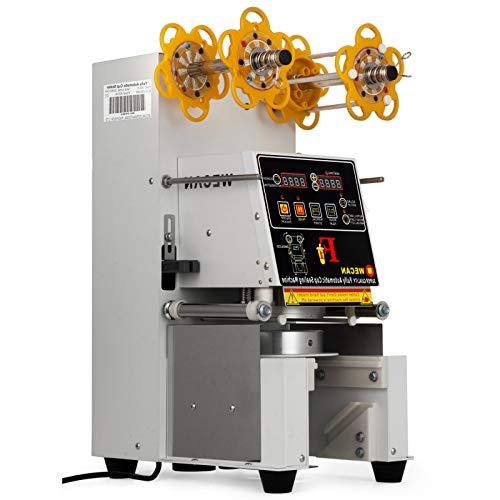 VEVOR Automatic Cup Sealing Machine, 500-650Cups/H Cup Sealer Machine, Digital Control Boba Sealer for Tea Coffee Milk
