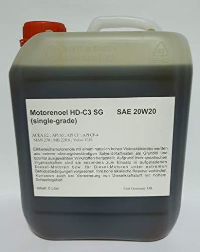 Motorenöl SAE 20W20 Kanister 5 Liter Inhalt