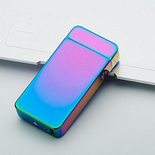 BESTOMZ BESTOMZ USB elektronisches Feuerzeug aufladbar lichtbogen (Bunte Ice)