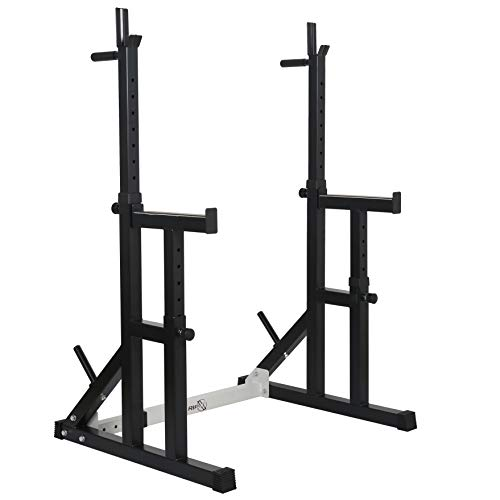 RIP X Fully Adjustable Heavy Duty Squat Rack With Multi Position Spotter, Dip Bars & Weight Plate Holders