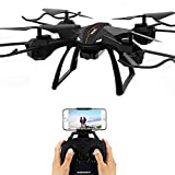 WHWYY Quadcopter Drone with Camera Live Video WiFi FPV Drone with 720P HD Camera Voice Control APP Control 40mins(18+18) Flight time Altitude Hold Headless Mode One Key Take Off/Landing