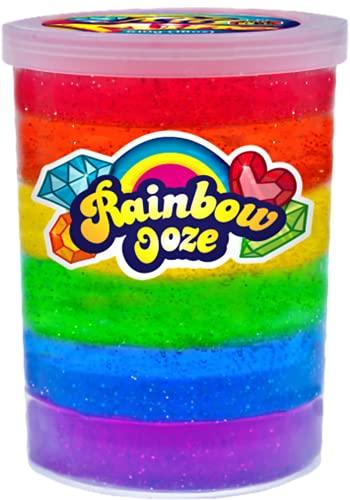 JA-RU Mega 1Lb Rainbow Putty Slime Kit Neon Glitter Colors (1 Unit) Unicorn Colors Glitter Putty...