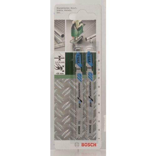 Bosch 2609256735 T 123 XF Lame de scie sauteuse pour Tôles d Epaisseur mince à épaisse Epaisseur 1,5-10 mm
