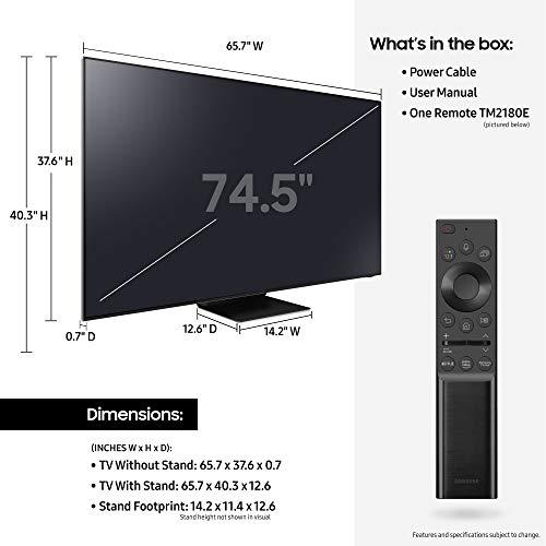 SAMSUNG 75-inch Class QN800A Series – Neo QLED 8K Smart TV with Alexa Built-in (QN75QN800AFXZA, 2021 Model) Montana