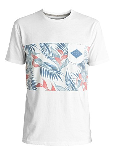 Quiksilver Fadedtime T-Shirt Homme, Snow White, FR : M (Taille Fabricant : M)
