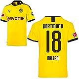 PUMA Borussia Dortmund BVB Heimtrikot 2019/20 Home Trikot Sponsor BL Logo Herren Leonardo Balerdi 18 Gr XL