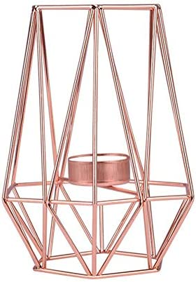 Vintage Metal Candle Holder Messar Hollow Out 3D Geometric Candlestick Iron Wire Metal Tea Light product image