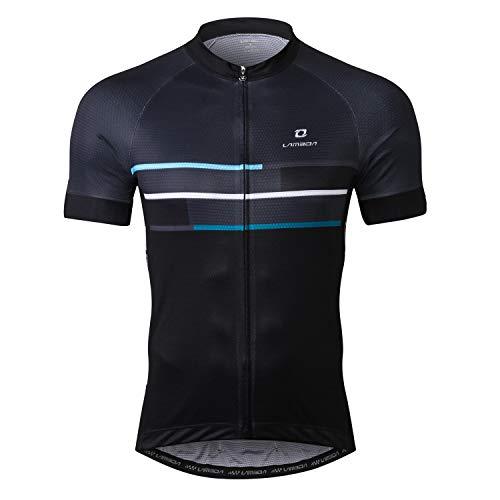 LAMEDA Cycling Jersey Men Short Sleeve Shirt Bike Accessories Running Tops Bike Biking Shirt Gray XL