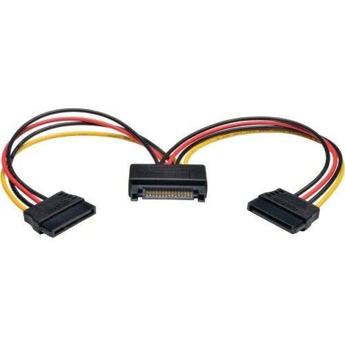Read About Compatible with Tripp Lite 6in Serial ATA SATA Power Y Splitter Cable Adapter 15Pin M/F