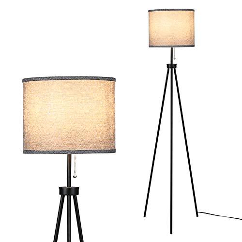 Lampada da Terra Staffa in Metallo 60W Max Supporta la Lampadina E27 Per Camera da Letto, Studio, Soggiorno, Comodino, Accanto al Divano (Senza lampadina)