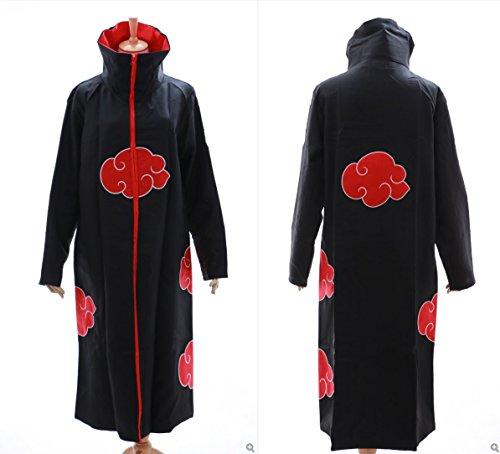 Kawaii-Story MN-N-01 Naruto Akatsuki Itachi Tobi Mantel Umhang Coat Cosplay Kostüm (Gr. XL)
