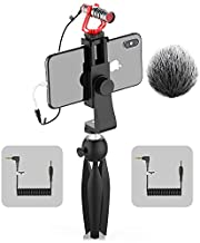 Video Microphone, SAMTIAN Camera Smartphone VideoMicro Kit with Shock Mount, Mini Tripod, Shotgun Interview Microphone for Canon Nikon Sony iPhone Android Samsung Camera Vloging YouTube