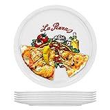 Van Well Napoli Set di 6 piatti da pizza in porcellana, diametro 30,5 cm, con motivo