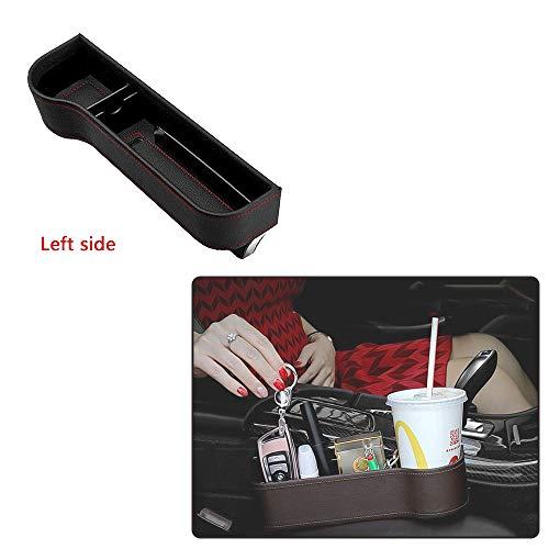 Integrity.1 Autositz Aufbewahrungsbox(Hauptfahrersitz), ABS Harz Rohstoffe Spritzguss hochwertige Leder Aufbewahrungsbox, Macht das Auto sauber und bequem(Links)