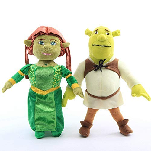 XINRUIBO Plush Toys 2 Pcs/Set 33 cm Anime Princess Fiona Shrek Green Ogre Plush Toys Doll Big Size Baby Kids Birthday Gift Shrek Toys