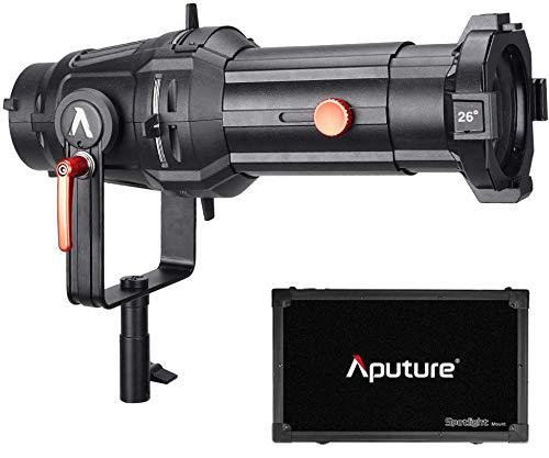 Aputure Spotlight Mount 26 ° Beleuchtungsmodifizierer mit austauschbarer Projektorlänge und 3 GOBOS 120D Mark 2 120D LS C300D und andere Bowen-S-Anbauleuchte, einschließlich PERGEAR Soft Diffuser