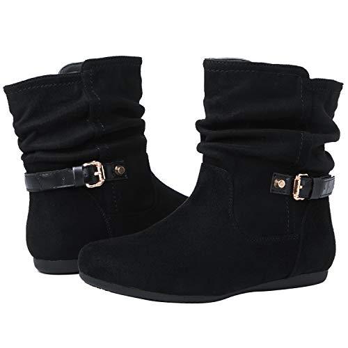 GLOBALWIN Women's 18YY12 Black Fashion Boots 8M