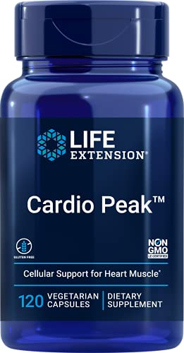 Life Extension Cardio Peak Dual-Action Support for Heart Health – Gluten-Free, Non-GMO, Vegetarian – 120 Vegetarian Capsules