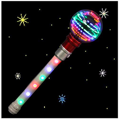 DBlosp Light Up Spinning LED Magic Orb Wand Toy - Flashing LED Wand - Thrilling Spinning Light Show - Best Fun Gift or Birthday Party Favor for Kids