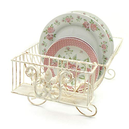 Scolapiatti Vintage Shabby Chic Lis Collection Colore Avorio Anticato