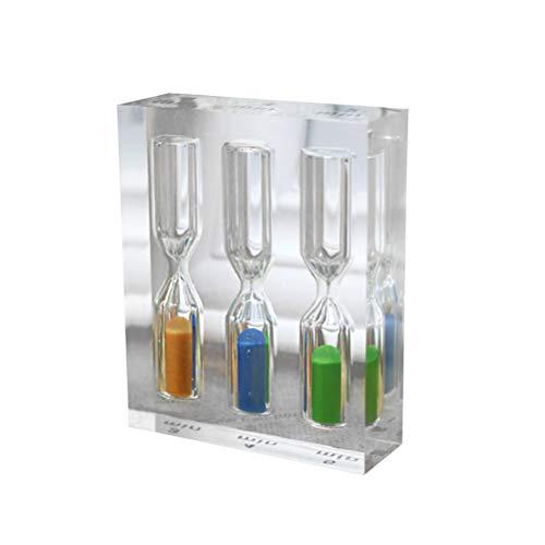 LIOOBO 3 in 1 Transparent Acryl Sanduhr 3 4 5 Minuten Bunte Sanduhr Sanduhr Timer für Home Office Küche