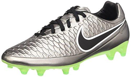 Nike Magista Orden FG, Botas de fútbol para Hombre, Plateado/Negro/Verde (Mtlc Pwtr/Blk-Ghst Grn-Grn GLW), 40.5 EU