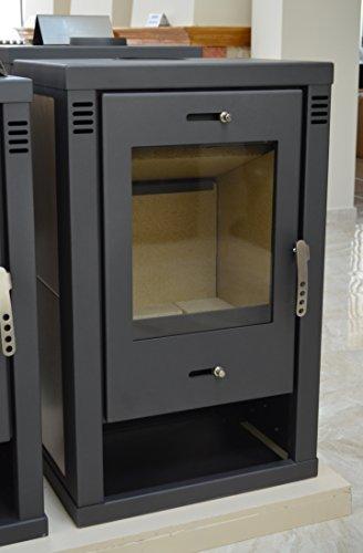 Estufa de leña 12kW caldera integral bajo las emisiones blmschv-2cerámica forro