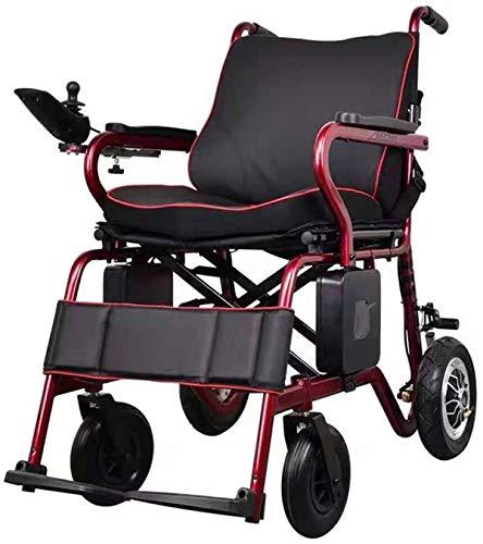 Vollautomatische Elektro-Rollstuhl faltbar, intelligente Steuerung mit LCD-Display, kann Lift Ultra-Leicht-Elektro-Rollstuhls, tragbaren elektrischen Rollstuhls Einhändig for behinderte Menschen Assis
