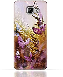 Samsung Galaxy A5 2016 TPU Silicone Case with Butterfly Oil Paint Pattern