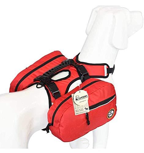 Alforja de perro ajustable Tripper Hound mochila de viaje mochila para perros medianos y grandes, camping y senderismo, paquete desmontable que se convierte al instante en arnés
