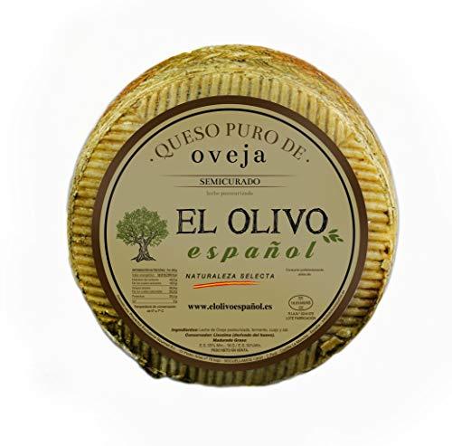 EL OLIVO ESPAÑOL - Queso manchego puro de oveja, semicurado, 1kg