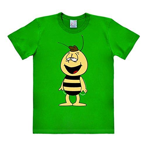 Cartoon - Die Biene Maja - Willi - Easyfit - T-Shirt - grün - Lizenziertes Originaldesign, Größe S