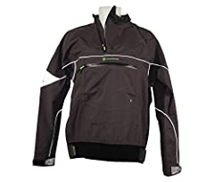 SPORTEC X3 fabric is waterproof and breathable. Innovative offset neck zip design for comfort. Double cuff system on arms prevents water ingress. Soft waistband adjustment for a customized fit. Large, center chest pocket for small items