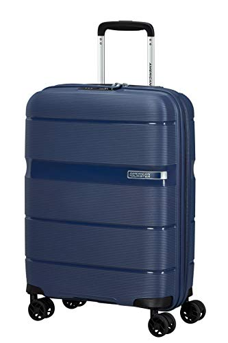 American Tourister Linex Luggage- Carry-On Luggage, S (55 cm - 34 L), Blue (Deep Navy)
