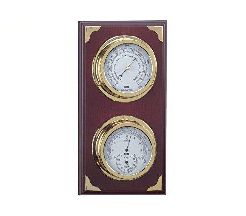 Montre baromètre et station météo, avec baromètre et thermomètre hygromètre de 39 cm. Station météo intérieur extérieur
