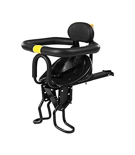 LYATW Asiento Universal por Hijo for la Delantera de la Bici de Montaje rápido desmontaje de Seguridad con Respaldo Pedales Adecuado