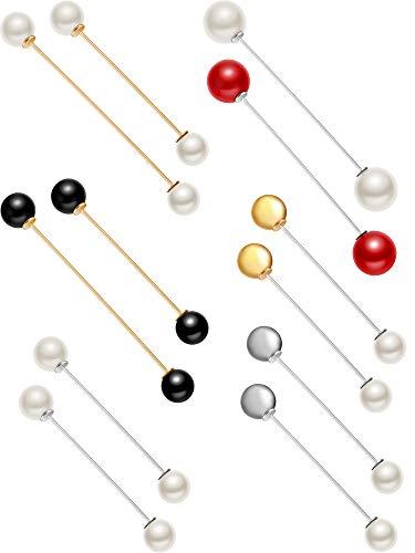12 Pieces Sweater Shawl Clip Double Faux Pearl Brooches Safety Pins for Women 12 Stück Pullover Schal Clip Doppel Faux Perlen Broschen Sicherheit Nadeln für Frauen