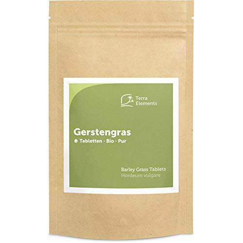 Terra Elements Bio Gerstengras Tabletten (500 mg, 240 St) I Reich an natürlichem Eisen I 100% rein I Vegan I Rohkost