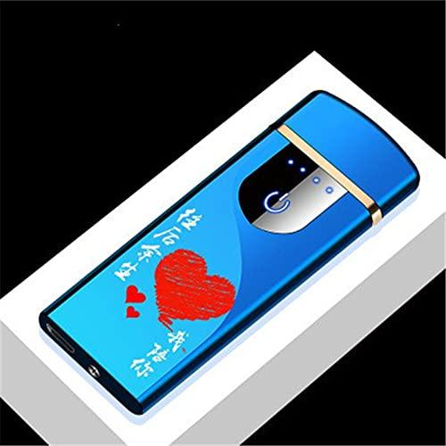 MUYEY Novedad Eléctrica Táctil Sensor De Tacto Frío Encendedor USB Recargables Portátiles A Prueba De Viento A Prueba De Viento Accesorios para Fumadores,14