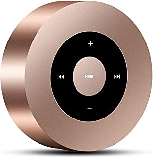 KJRJLY Bluetooth Speaker, Wireless Bluetooth Speaker Broadcast Cell Phone Amplifier Mini Portable Connection Sound Quality Water Resistance Battery Life Sound Quality (Color : Gold)