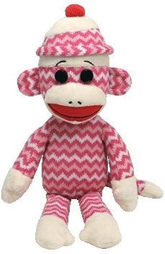 Ty Beanie Buddies Socks The Monkey (Rosa Weiß Zig Zag) by Ty Beanie Buddies