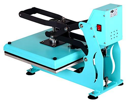 RICOO T438M-TB Transferpresse mit Öffnungsautmatik Textilpresse Textildruckpresse Klappbar Thermopresse Transferdruck Bügelpresse Textil T-Shirtpresse Sublimationspresse/Türkis-Blau - 3